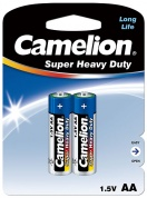 Батарейка CAMELION, Blue Series, R6P-BP2B, тип АА, 1.5V (блистер - 2 шт)