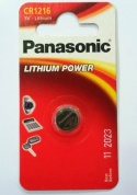 Батарейка Panasonic, LITHIUM Power, CR-1216AL/1B, 3V  (блистер - 1 шт)