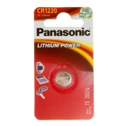 Батарейка Panasonic, LITHIUM Power, CR-1220EL/1B, 3V  (блистер - 1 шт)
