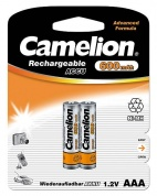 Аккумулятор CAMELION, Rechargeable Accu, NH-AAA600BP2, тип AAA, 1.2V, 600 mAh (блистер2 шт)